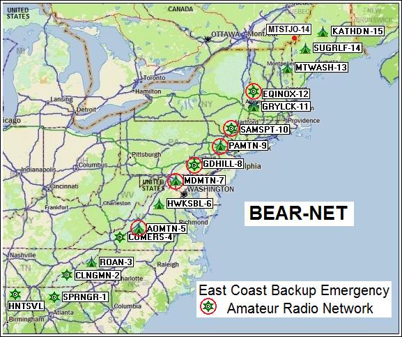 East Coast 9600 baud backbone