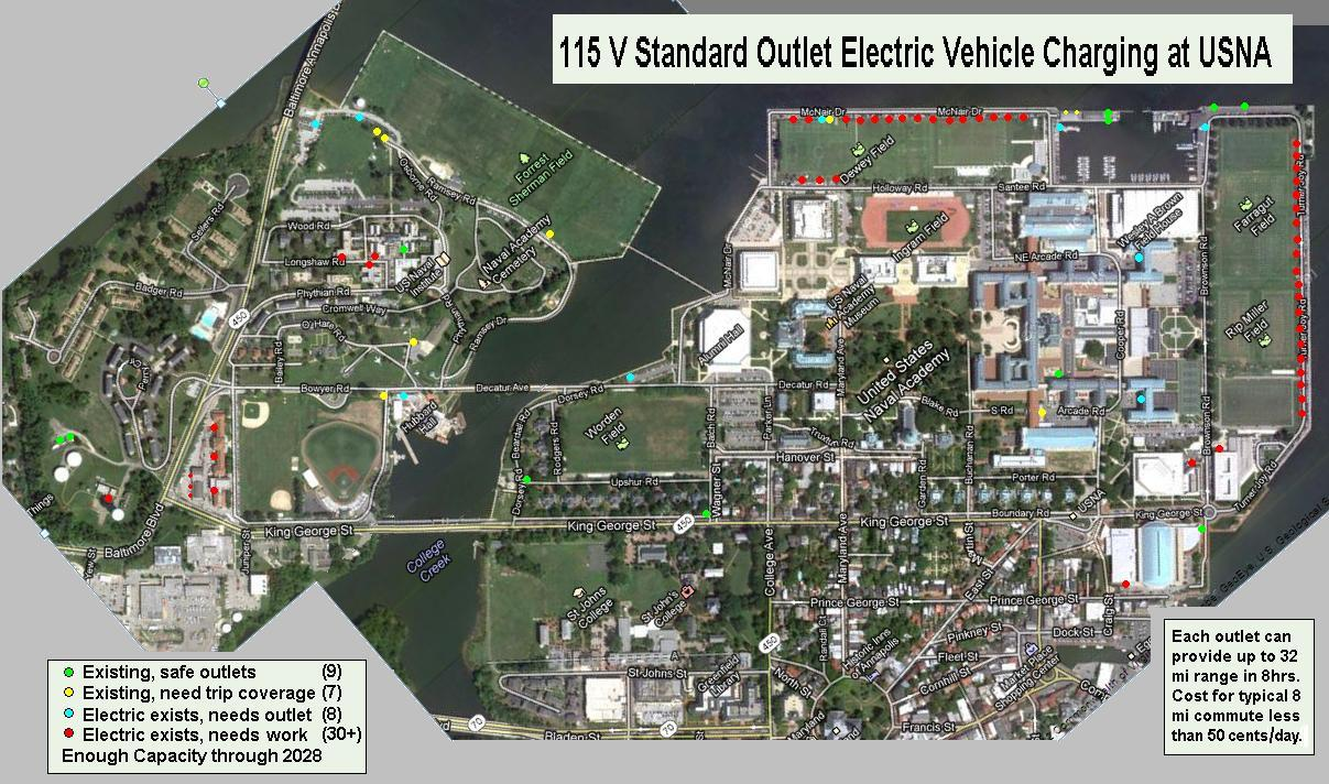 EV Charging Potential At USNA - Us naval academy campus map