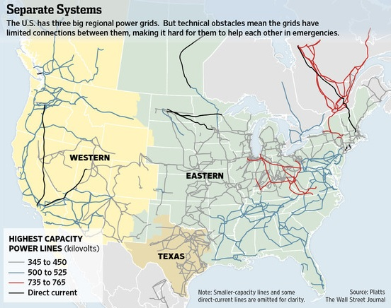 Grid or Off-Grid? Map Of Us Power Grid on