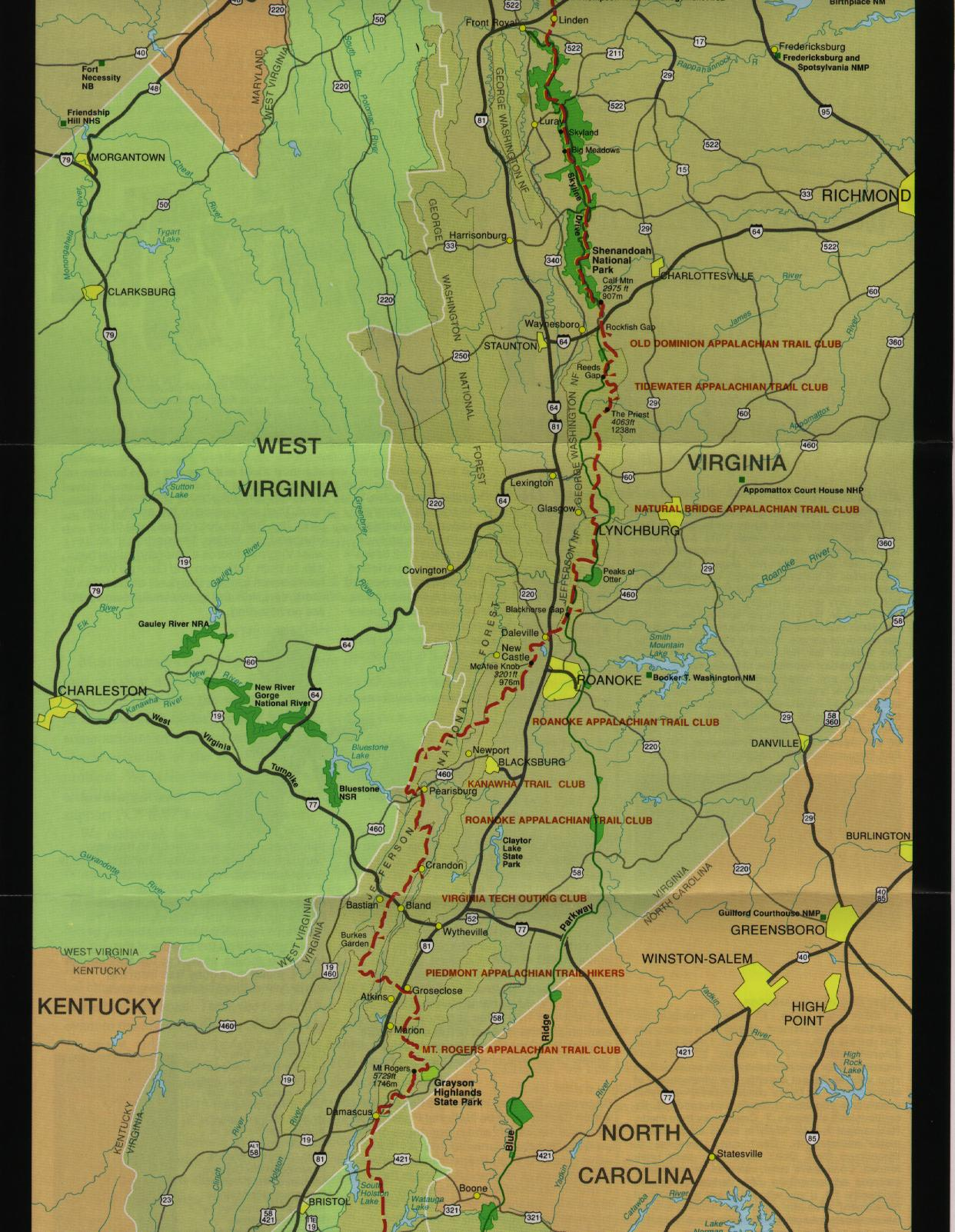 AT Ham Radio Survey - Appalachian trail new hampshire map