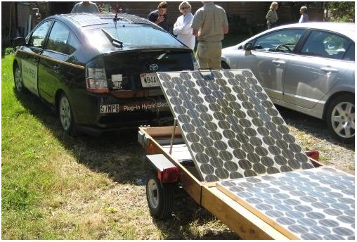 Emergency Solar Trailer For Field Events And On The Go To Right Contains About 200 Watts Of Panels 20