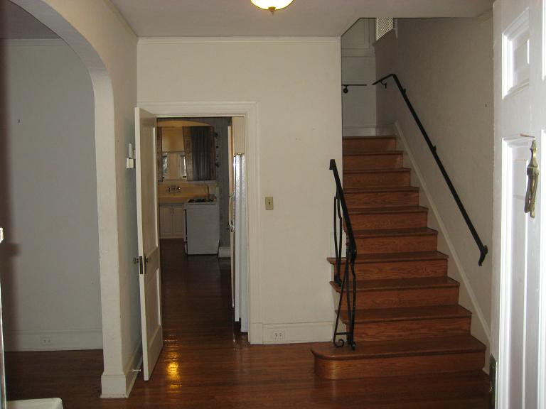 Rental apartment bathroom ideas - At The Top Of The Stairs In Themain Hallway Facing The Front Of The